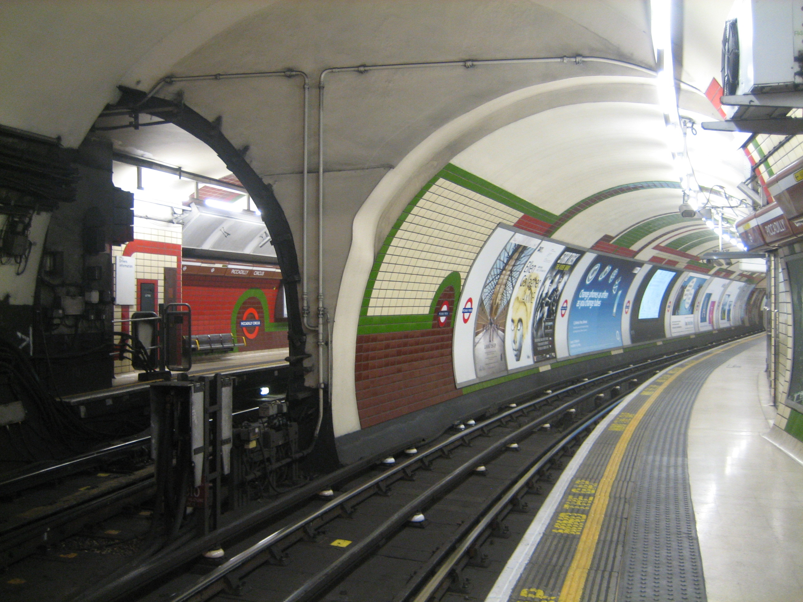 103 The tunnels at Piccadilly Circus  150 great things about the